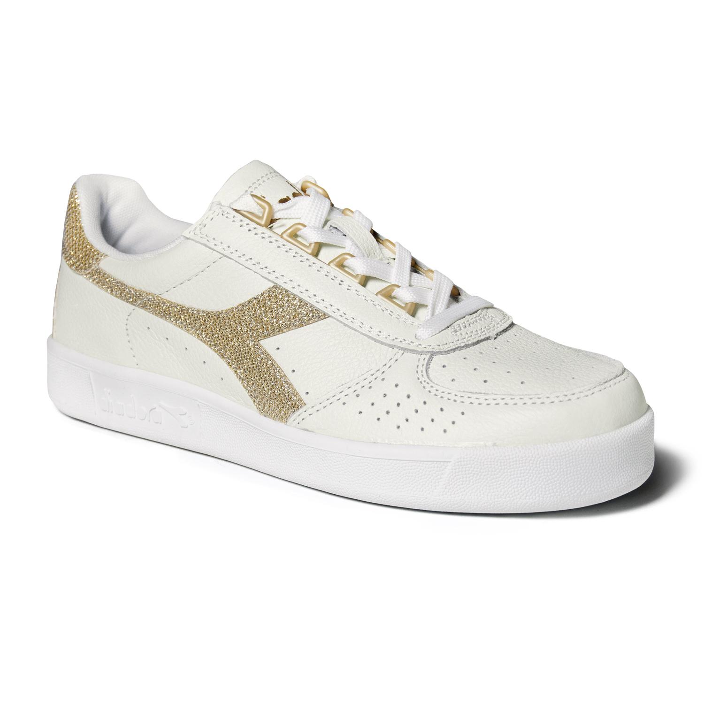 huge selection of fd03a 0e042 Dettagli su Scarpe Sneakers Donna DIADORA Modello B.Elite White Gold